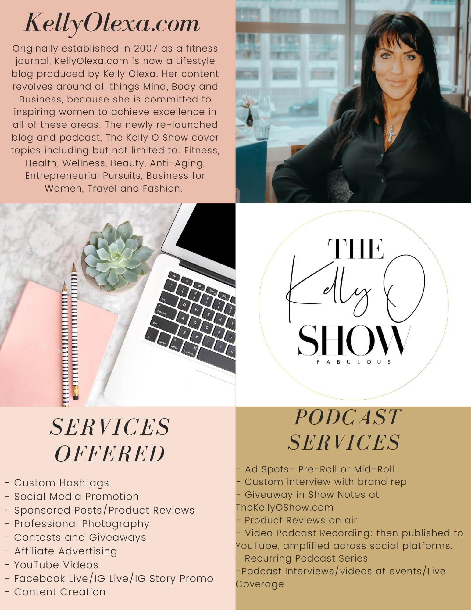 The Kelly O Show Media Kit